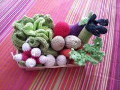 panier de la maraichère (légumes au crochet)