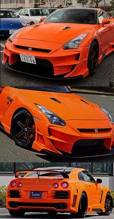 Awesome Orange Nissan GT-R Aloof 01-R Version 2 by Gallant Abflug