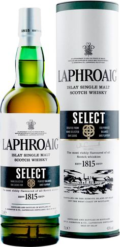 Laphroaig Select Islay Single Malt Scotch Whisky | @Caskers This Islay whisky is peated and matured in six different types of casks.