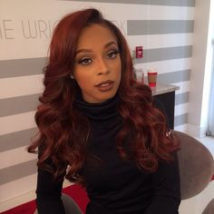 35 Red Hair Color for American Women!Red hair color is very popular for many years. A girl with red hair will never go unnoticed. Curly Hair Styles, Natural Hair Styles, Beautiful Red Hair, Beautiful Models, Beautiful Ladies, Hair Laid, Auburn Hair, Hair Color For Black Hair, Black Girl Red Hair