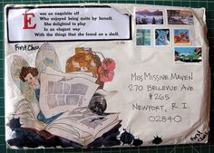 #mail art...E was an exquisite Elf... collection of Missive Maven