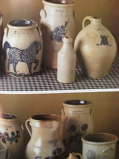 COUNTRY COLLECTIONS. Old pottery pieces.