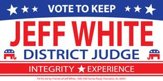 White Campaign Yard Signs