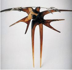 """Rene Lalique """"Two Swallows with a Stalk of Oats"""" - From Religion, War, Trade, and Art Nouveau by Barbara Steinberg"""