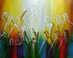 Katia Almeida_Sagrada Familia_(Pintura A Mão Santa Ceia 80x100 Cod 831)
