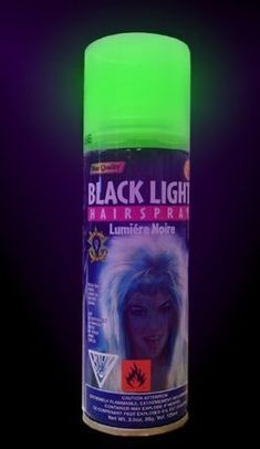 glow in the dark hair spray