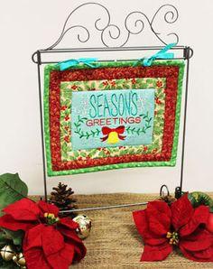 Embroidered Quilt Block - Mini Quilt decoration.