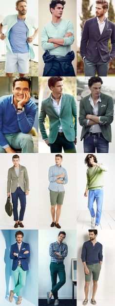 Colour Combinations To-Go for 2015 Spring/Summer: Blue & Green Lookbook Inspiration