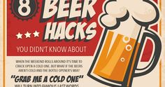 Don't you hate when you find yourself at a party, with a bottle of beer, but without a bottle opener? Well, now you'll never have to deal with these problems again. In this interesting infographic you'll find beer hacks that everybody should know. Airport Hacks, Self Saucing Pudding, Famous Last Words, Best Beer, Home Brewing, Craft Beer, The Help, Make It Yourself, Cool Stuff