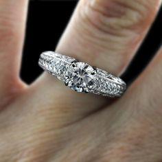 Kadence - Antique Diamond Wedding Ring   MiaDonna.com http://miaco.us/kadence
