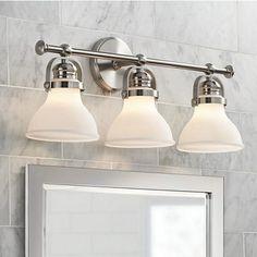 Downtown Edison Wide Brushed Nickel Bath Light Style - Satin nickel bathroom lights