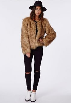 Its going to be a faux #fur frenzy when the new season arrives with textured pieces topping the #Missguided style charts. This lust worthy piece will be the perfect #AW wardrobe update, with its soft touch #fur and collarless style, its the perfect mix of glam and #bohemian.