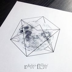 Moon with geometric harness - RawFlow | therawflow