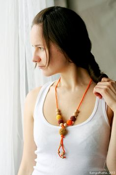 Organic Teething necklace Nursing necklace  in by kangarusha,