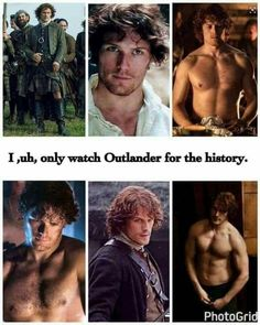 I am not ashamed to say that I watch Outlander to watch Jamie! Sam Heughan Outlander, Watch Outlander, James Fraser Outlander, Outlander Funny, Outlander Quotes, Outlander Tv Series, The Outlander, Outlander Characters, Diana Gabaldon