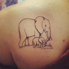 This but with two baby elephants