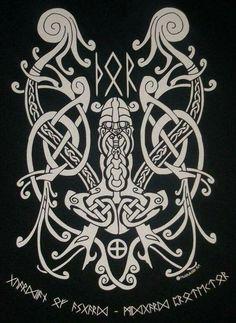 I Love Vikings Tshirt Norse Runes, Norse Pagan, Pagan Art, Viking Runes, Norse Mythology, Norse Tattoo, Celtic Tattoos, Viking Tattoos, Viking Designs