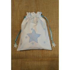 Bolsa merienda Estrlas celeste Drawstring Backpack, Backpacks, Bags, Fashion, Afternoon Snacks, Sachets, Stars, Blue Nails, Needlepoint