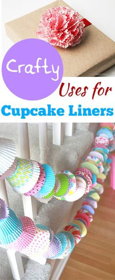 Crafty Uses for Cupcake Liners- cute ideas, projects and tutorials...
