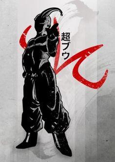 buu bu super dbz dragon ball z gt fan art anime manga m villian bad fanfreak japanese japan inking ink watercolour nice vintage