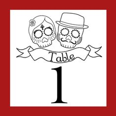 Table numbers Day of the dead Wedding by LaSantaMuerte on Etsy, $9.00