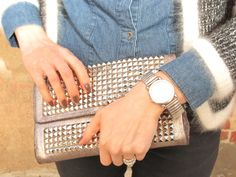 Love this studded clutch