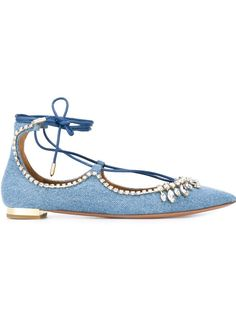 Pin for Later: 23 Commute-Friendly Shoes to Wear to Work in the Summer  Aquazzura Christy Ballerina Flats ($985)