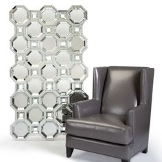 Love the way the pattern works in this mirror. Truly a unique piece. Axis Floor Mirror from Z Gallerie.