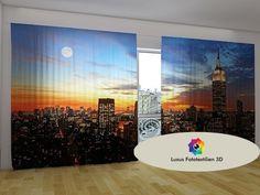Fotogardine Vorhänge in Luxus Fotodruck 3D. Maßanfertigung.
