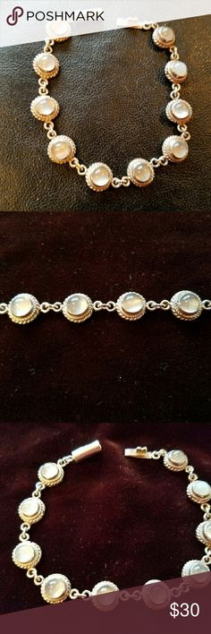 Selling this Moonstone Sterling Silver Bracelet on Poshmark! My username is: ppamprrd. #shopmycloset #poshmark #fashion #shopping #style #forsale #Jewelry