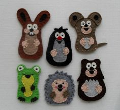 The Little Mole and his friends finger puppets by feltonfinger