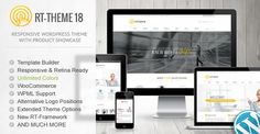 RT-Theme 18 Responsive WordPress Theme is a Theme being distributed by Themeforest. RT-Theme 18 Responsive WordPress Theme is suitable - Template Wordpress, Tema Wordpress, Site Wordpress, Premium Wordpress Themes, Wordpress Plugins, Ecommerce, Website Design Inspiration, Design Blog, Design Design