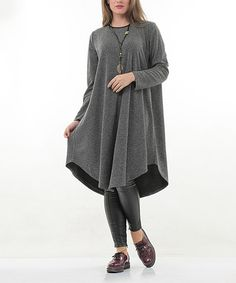 Look at this #zulilyfind! Black Contrast Tunic - Plus #zulilyfinds