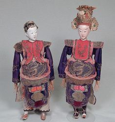 Chinese opera dolls in elaboate costumes male and female by Ritzco