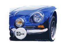 """""""Alpine"""" by Hideki Yoshida. #japan #painter #hidekiyoshida #alpine #blue #mecanicart #paris #galeriemecanica"""
