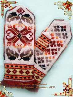 View album on Yandex. Knit Mittens, Knitted Gloves, Crochet Hand Warmers, Drops Patterns, Wrist Warmers, Fair Isles, Sewing Crafts, Knit Crochet, Knitting Patterns