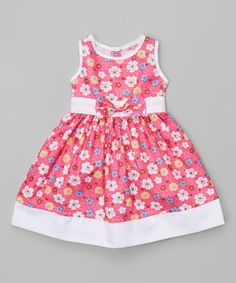 Look what I found on #zulily! Fuchsia Floral Sleeveless Dress - Infant & Toddler #zulilyfinds