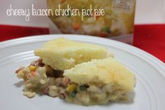 Cheesy Bacon Chicken Pot Pie with Velveeta Cheesy Casserole