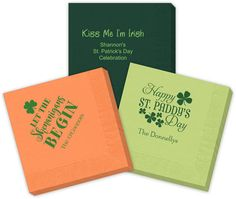 Beautiful high quality personalized 3-ply napkins in your choice of beverage, luncheon or dinner size. Free online preview. Select your personalization style from monograms, initials, standard designs, and/or text lines. Choice of 30+ napkin colors, 40+ imprint colors, and typestyles, Shrink wrapped in sets of 50.