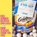 Swim Teacher Swim Coach Thank You Tag Summer Goldfish Printable :: Laura Winslow Photography