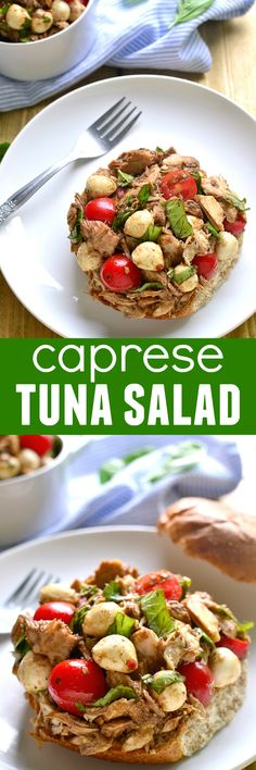 Move over, mayo...this Caprese Tuna Salad is just the fresh twist you've been…