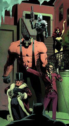 Imaginary Gotham - The art of Batman and his Universe. Comic Book Villains, Dc Comics Characters, Comic Books Art, Arte Dc Comics, Dc Comics Art, Comic Sans, Marvel Dc, Illustration Batman, Arte Do Harry Potter
