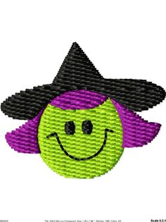 Halloween Witch Machine Embroidery Mini by SimplySweetEmbroider