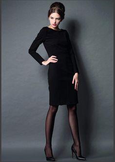 2015-Winter-Dress-Women-Dresses-Long-Sleeve-Elegant-Bodycon-Office-One-piece-Work-Dress-Woman-Vestido.jpg (790×1112)