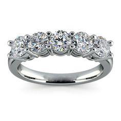 2.6ct White Topaz Fashion Woman 925 Silver Wedding Band Ring Party Sz 6-10
