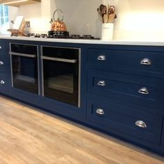 Hague Blue Kitchen Dark Shaker Cabinets Great Modern Country Style