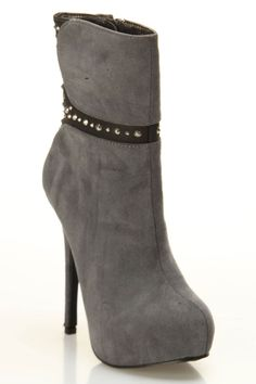 Shoe Republic Houston Heel Booties In Gray - Beyond the Rack