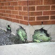 Amazing street art by David Zinn. More Amazing street art by David Zinn. More More from my site Amazing street art by David Zinn. More david+zinn+sidewalk+art Graffiti Art, Murals Street Art, 3d Street Art, Amazing Street Art, Street Artists, Amazing Art, David Zinn, 3d Art, 3d Chalk Art