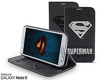 Samsung Galaxy Note II GT-N7100 DC Comics Heroes - Superman Leather Flip Case (Limited Edition)
