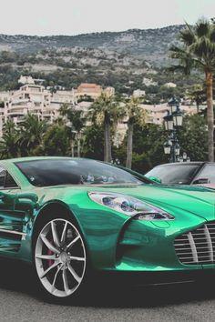 Visit The MACHINE Shop Café... ❤ The Best of Aston Martin... ❤ (Emerald Green Aston Martin)